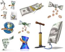 美元卡打气筒摄影高清图片