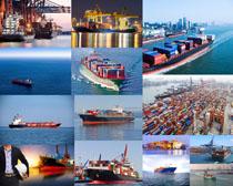 轮船货运拍摄高清图片