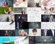 学校黑板与儿童摄影高清图片