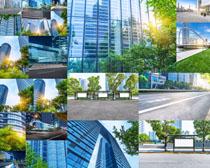 玻璃建筑大厦摄影高清图片