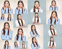 微笑的话务员女人摄影高清图片