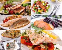 海鲜烤鱼食物摄影高清图片