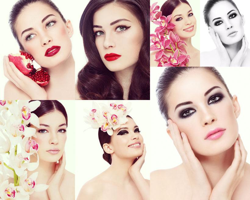 化妆肌肤美女摄影高清图片