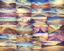 阳光风景公路摄影高清图片