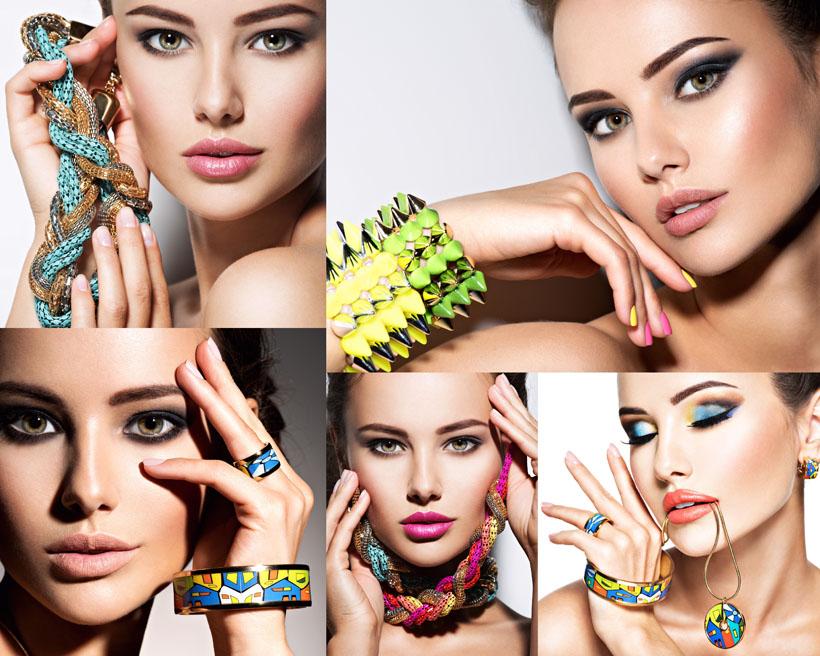 化妆美女与饰品摄影高清图片 - 爱图网设计图片素材