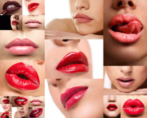 嘴唇口红拍摄高清图片