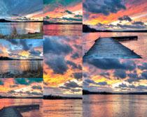 夕阳天空风景拍摄高清图片