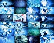 蓝色科技地球摄影高清图片
