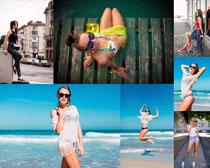 夏日欧美女人拍摄高清图片