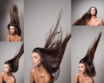 长发肌肤女子摄影高清图片