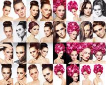 化妆美女展示摄影高清图片