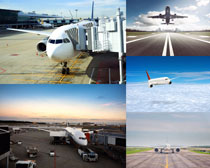 机场交通工具飞机摄影高清图片