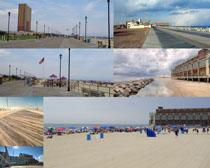 国外沙滩风景拍摄高清图片