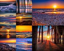 夕阳大海风光摄影高清图片