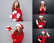 美女与礼物写真拍摄高清图片