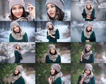 冬季女孩摄影高清图片