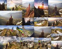 登山自行车人物摄影高清图片