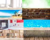 墙壁游泳池背景摄影高清图片