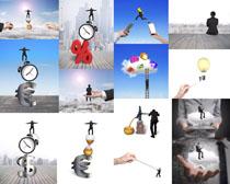 梦想创意商务男子摄影高清图片