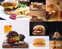 食物薯条与汉堡包摄影高清图片