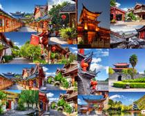 中國古典房屋景點攝影高清圖片