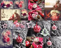 圣诞毛线球与小孩摄影高清图片