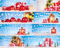 礼物圣诞球拍摄高清图片