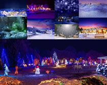 圣诞节景色摄影高清图片