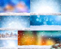 飘落的雪景色摄影高清图片