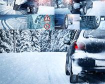 雪地汽车拍摄高清图片