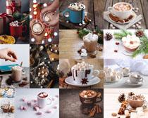 巧克力甜品饮料摄影高清图片