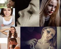 流泪的女人摄影高清图片