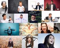 尖叫的人们摄影高清图片
