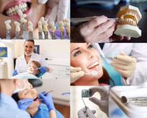 护理牙齿女人摄影高清图片