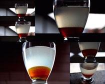 杯中水调料摄影高清图片