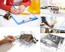绘画图纸建筑摄影高清图片