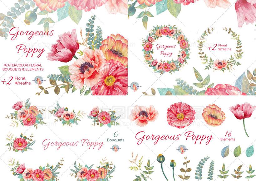 手绘花朵花卉笔刷
