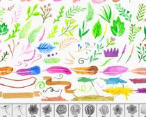 水彩鮮花花卉PS筆刷素材