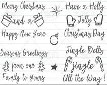 手写圣诞节英文字体笔刷