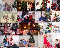 圣诞快乐家庭摄影高清图片