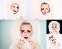 皮草化妆美女拍摄高清图片