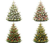 漂亮的装饰圣诞树摄影高清图片