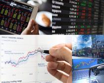 股票商务图表摄影高清图片