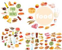 蔬菜肉类鱼类食物摄影高清图片