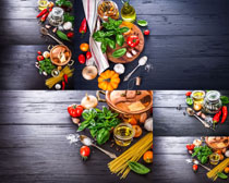 粉条西红柿原料食物摄影高清图片
