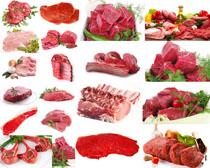 新鲜牛肉展示拍摄高清图片