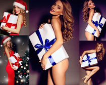 圣诞礼物性感女人摄影高清图片