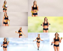 运动健身欧美女子摄影高清图片