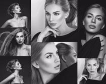 黑白照美女摄影高清图片