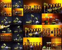 柠檬与水摄影高清图片
